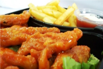 Buffalo Chicken Strips with Fries