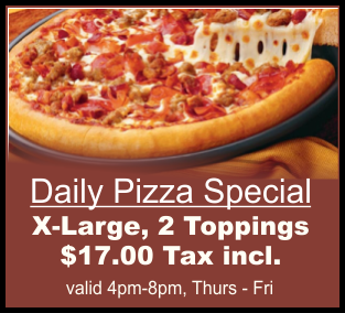 Trail Eatery Daily Pizza Specials